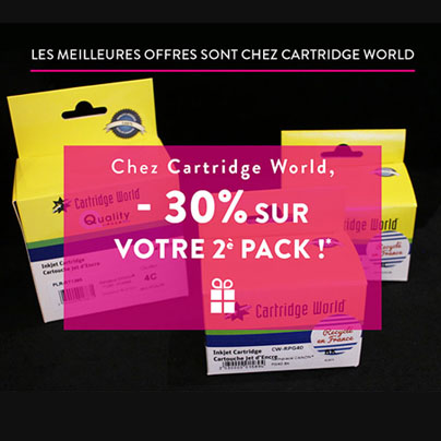 Coupon -30% - Cartridge World Rezé