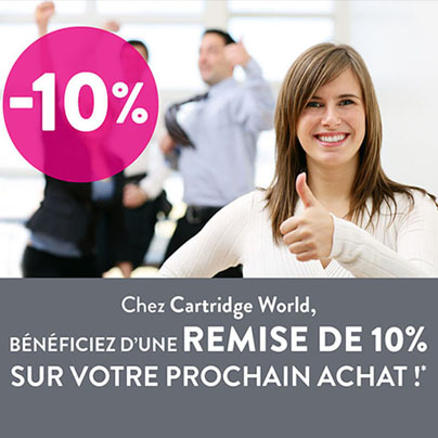 Coupon -10% - Cartridge World Rezé